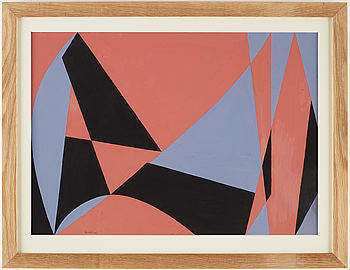HARRY BOOSTRÖM, gouache on paper, signed Booström, executed in 1954.