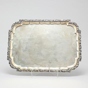 JARONSKI & VAUGOIN, bricka, silver, Wien, 1900-talets första hälft.