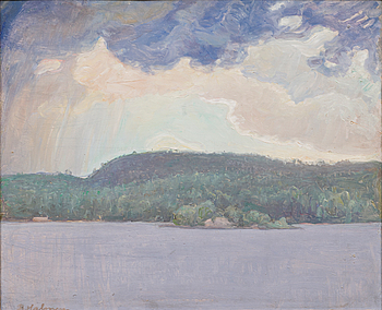"PEKKA HALONEN, ""CLOUDS OVER THE LAKE""."