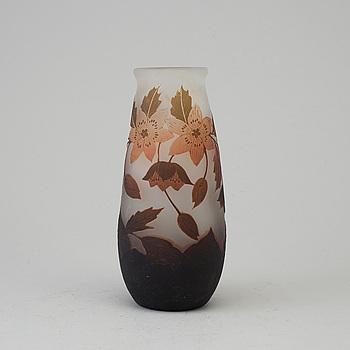 VAS, överfångsglas, Arsall (Vereinigte Lausitzer Glaswerke), signerad, Tyskland 1900-talets början.