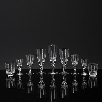 """GLASSERVIS, glas, 59 delar. """"Cecil"""" Kosta."""