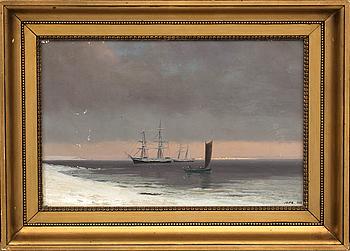 JENS ERIK CARL RASMUSSEN, olja på duk, signerad samt daterad 1888.