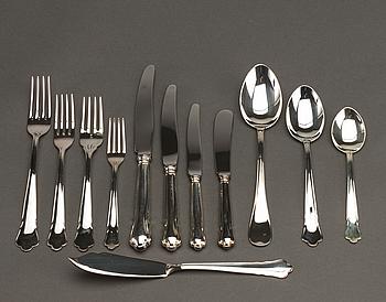 "BESTICKSERVIS, silver, ca 144 dlr, Eskilstuna, ""Chippendale"", 1990-talets slut,"