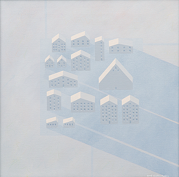 KRISTIAN KROKFORS, acrylic on canvas, signed and dated 2007.
