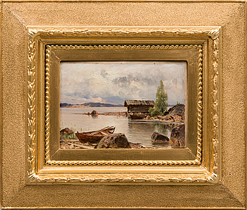 HJALMAR MUNSTERHJELM, oil on board, signed.