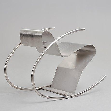 "Sigurdur gustafsson, a ""rock´n roll"" rocking chair for källemo sweden, post 1999."