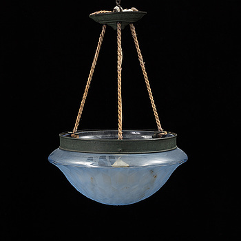 A 1920s / 30s Swedish Grace ceiling light, probably from Orrefors.