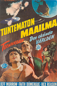 FILMAFFISCH, Tuntematon Maailma / Den okända världen. Universal International, 1950-tal.