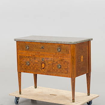 A gustavian style drawer 20th century.