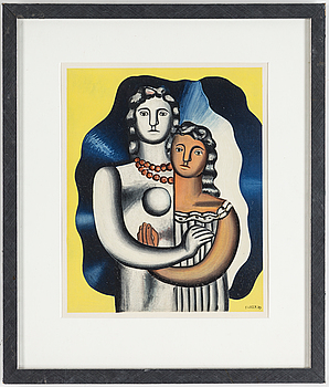 FERNAND LÉGER, FERNAND LÉGER, after, colour lithographe, signed in print and dated -29, from Derrière le Miroir nr 79-80-81, 1955.