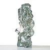 """Edvin Öhrström, a """"korona"""" cast glass sculpture, lindshammar, sweden 1960's."""
