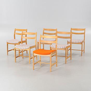 """BENGT RUDA, 6 st stolar, """"Ulvö"""", Möbel-Ikea, formgivna ca 1963."""