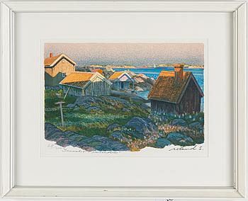 ROLAND SVENSSON, färglitografi, signered roland s och numrerad 29/350 med blyerts.
