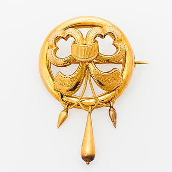 BROSCH, 18K guld. Malmö Sverige 1872.