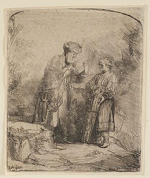 REMBRANDT HARMENSZ VAN RIJN, REMBRANDT HARMENSZ VAN RIJN, etching, II state of II, Basan, probably 18th century.