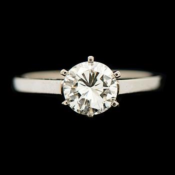 A RING, brilliant cut diamond, 18K white gold. Kupittaan Kulta, Turku Finland 1975.
