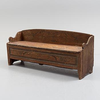 FÅLLBÄNK / SOFFA, allmoge, 1800-talets första hälft.