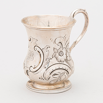MUGG, silver, London 1851.