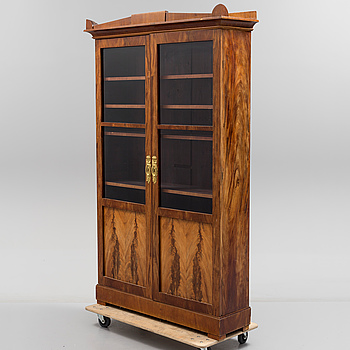 A BOOKCASE. Empire, Stockholm, first half of the 19th century.