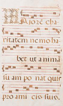 ANTIFONARIUM, pergament 1500/1600-tal.