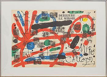 JOAN MIRÓ, färglitografi, omslag till Derrière le Miroir nr 152-152 1965.