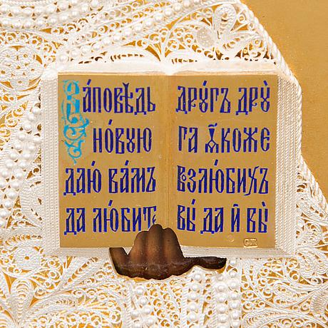 Ikon, ryssland 1899 1908, okänd guldsmed сж