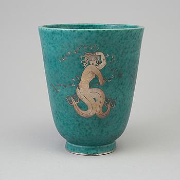 WILHELM KÅGE, an 'Argenta' stoneware vase from Gustavsberg, 1949.
