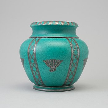 WILHELM KÅGE, an 'Argenta' stoneware vase from Gustavsberg, second half of the 20th Century.