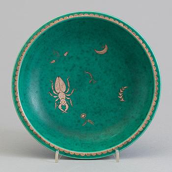 WILHELM KÅGE, an 'Argenta' stoneware bowl from Gustavsberg, second half of the 20th Century.