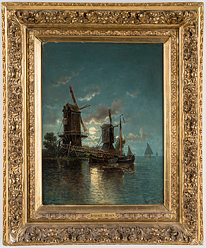 AUGUSTE MUSIN, oil on canvas, signed Auguste Mustin.