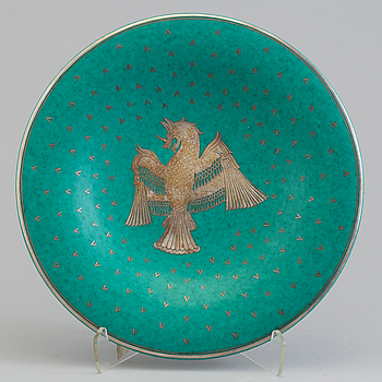 WILHELM KÅGE, an 'Argenta' stoneware dish from Gustavsberg, 1930's/40's.