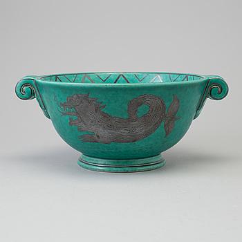 WILHELM KÅGE, an 'Argenta' stoneware bowl from Gustavsberg, 1930's/40's.