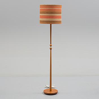 A teak standard light, 1950's/60's.