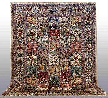 MATTA, figural Kashmar, ca 400 x 300 cm.