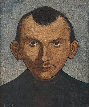 """310. IVAR AROSENIUS, """"Porträtt av Axel Törneman"""" (Portrait of the artist Axel Törneman)."""