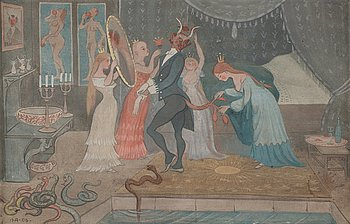 """301. Ivar Arosenius, """"The Bridegroom Dressed""""."""