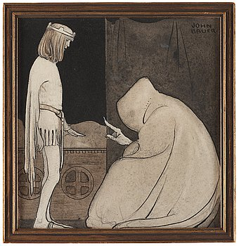 328. John Bauer, I am the man who collects shadows. Will you give me your shadow tonight?.