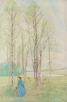 "317. Carl Larsson, ""Våridyll"" (""I grönan lund""/""De badande barnen""/""Idyll"") [Spring idyll]."