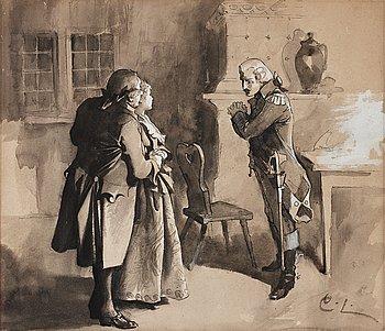 "315. Carl Larsson, ""Illustration till 'Kabale und Liebe' "" (Illustration for ""Kabale und Liebe"")."
