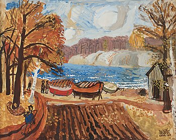 "321. Olle Olsson-Hagalund, ""Motiv från Bellevue"" (Scene from Bellevue [Park], Stockholm)."