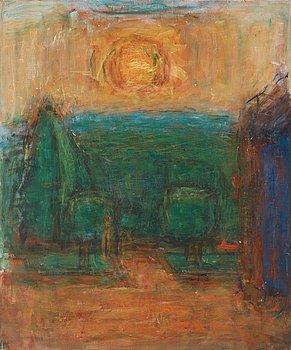 """324. Carl Kylberg, """"Soluppgång i trädgården"""" / """"Morgonsol i trädgården"""" (Sunrise in the garden / Morning sun in the garden)."""