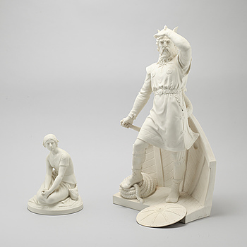 Two parian ware figurines from Gustafsberg, first quarter of the 20th century.