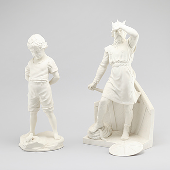 Two parian ware figurines from Gustafsberg, early 20th century.