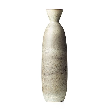 Carl-harry stålhane, a large stoneware vase, rörstrand, sweden 1950's.