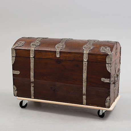 A baroque chest, dated 1777.