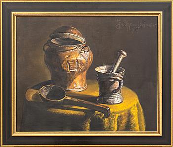 JOHNNY OPPENHEIMER, olja på duk, signerad och daterad 77.