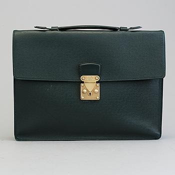 LOUIS VUITTON, LOUIS VUITTON, a taiga leather 'Kourad' briefcase.