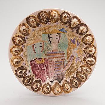 A stoneware bowl signed B.K Arabia.