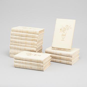 BOKVERK, 15 volymer, Selma Lagerlöf, Albert Bonniers förlag, Stockholm, 1920-tal.