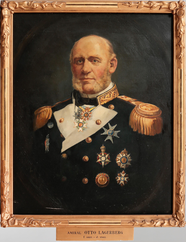 Unknown Artist Oil On Canvas Portrait Of Admiral Otto